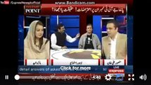 Maiza hameed of PMLN start fighting with shaukat Basra on saying hussain nawaz a accused person............