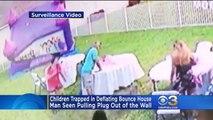 Un voisin grincheux a envoyé des enfants l'hôpital en débranchant leur château gonflable