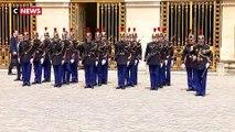 Emmanuel Macron est arrivé à Versailles