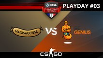 CSGO - Maxisaucisse vs beGenius - Inferno - ESL Championnat National - Summer 2017 - Map 1