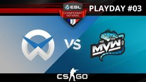 CS:GO - WySix vs MvW - Overpass - ESL Championnat National - Summer 2017 - Map 1