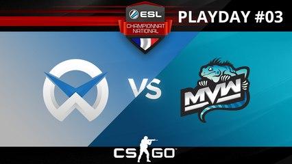 CS:GO - WySix vs MvW - Overpass - ESL Championnat National - Summer 2017 - Map 1