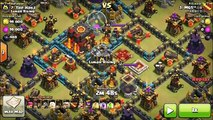 Clash of Clans | Queen Walk Lavaloon Attack Strategy - 3 Star Max TH10 in Clash of Clans
