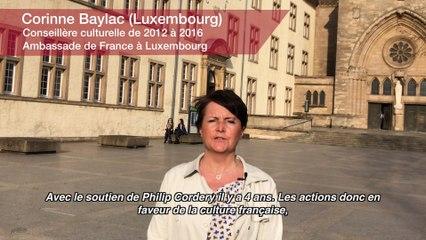 Corinne Baylac. Conseillère culturelle de 2012 à 2016 - Ambassade de France (Luxembourg)