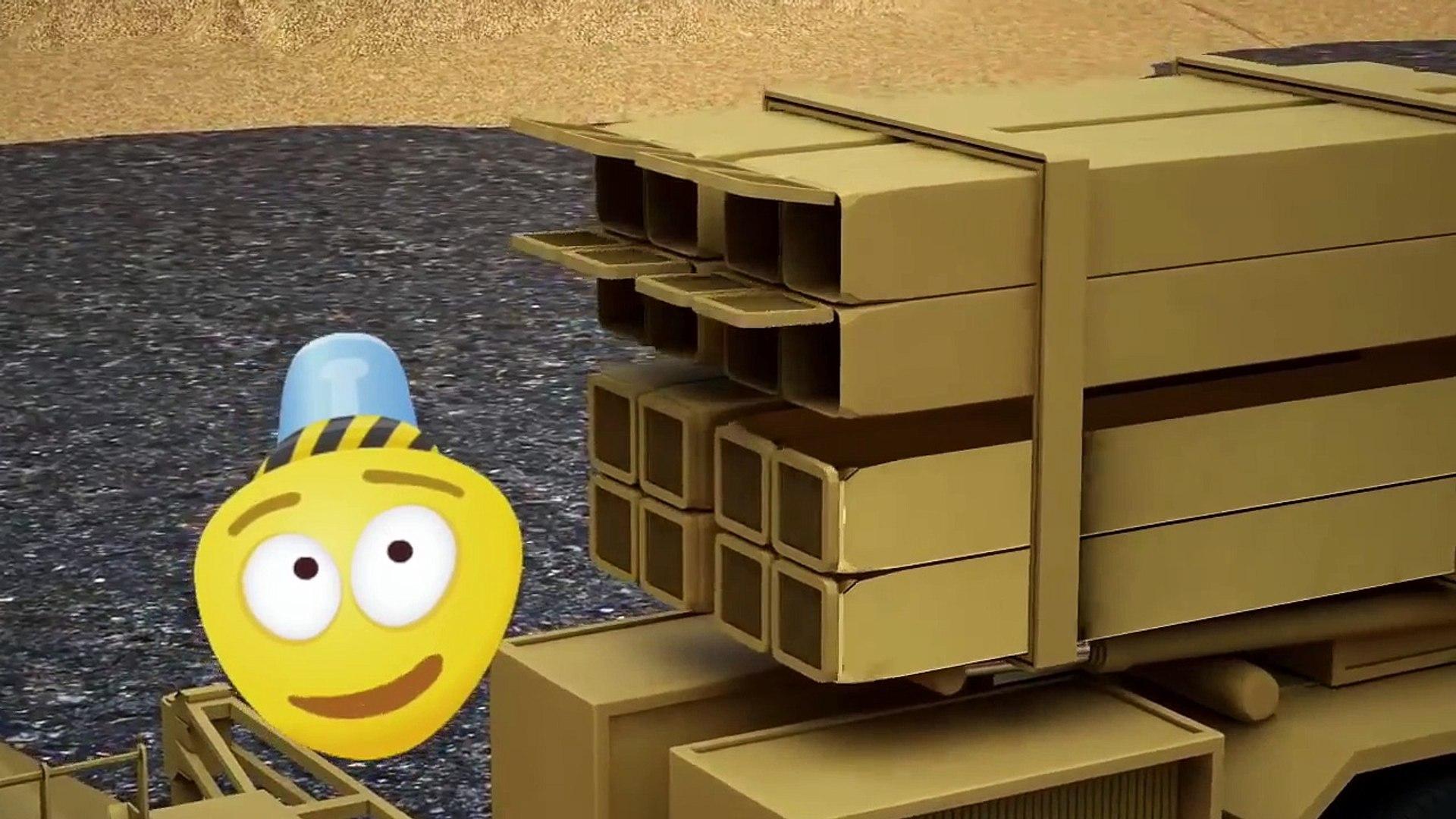 Kamyon çizgi film izle türkçe _ Mobil Roketatar _ Çocuklar İçin 3D Ordu Araçları _ Füze Başlatıcısı,