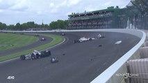Indycar Indy500 2017 Race Big One 5 cars