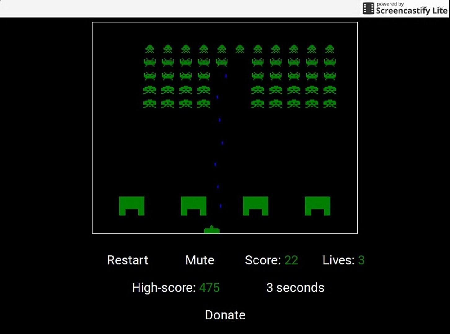 kool kid plays space invaders