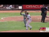 Hunter Strickland drilled Bryce Harper and punched him in the face when Harper charger him