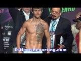 Vasyl Lomachenko vs Romulo Koasicha WEIGH IN & FACE OFF - EsNews Boxing