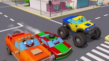 The Yellow Truck and The Excavator - Little Cars & Trucks Construction Cartoons for Babies