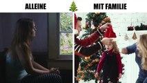 Weihnachten alleine VS. Weihnachten mit Familie -rJd32ZydeFg