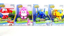 Kids Toys BeeTube - 4 Super Wings Transforming Robots Airplanes Jett Jerome Donnie Dizzy 출