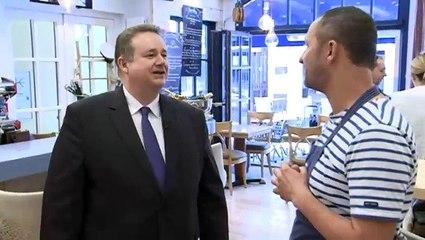 Reportage dans l'émission Chamber aktuell à Luxembourg à l'occasion de mon déplacement de campagne.
