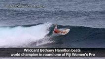 Surfing: One-armed wildcard beats women's world champion in Fiji
