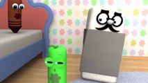 Five Little Monkeys - 3D Nursery Rhymes _ Color Crew 3-D Animation _ 3D Rhymes for Kid
