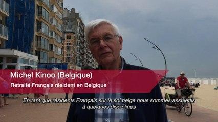 Simplification : Michel Kinoo, retraité Français résidant en Belgique.