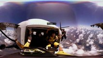 VR skydive with the US Army Golden Knights parachute te