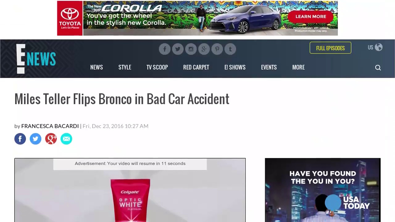 Actor Miles Teller's Ford Bronco flips in car crash-qJaTbTtpQ3Q