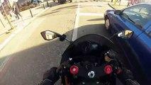Kawasaki ninja 636 winter ride! (going 257 Km_h !)