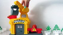 Crane and vehicles. Toys video for children. Kinder Surprise. Toys