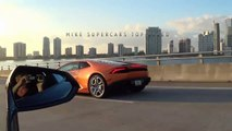 Lamborghini Huracan Revving Trump Huracan You're Fired Trumpracan at Cars and Coffee Palm Be