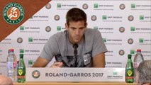 Roland Garros 2017 : 1T conférence de presse Juan Martin Del Potro