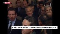 Edouard Balladur mis en examen dans l'affaire Karachi