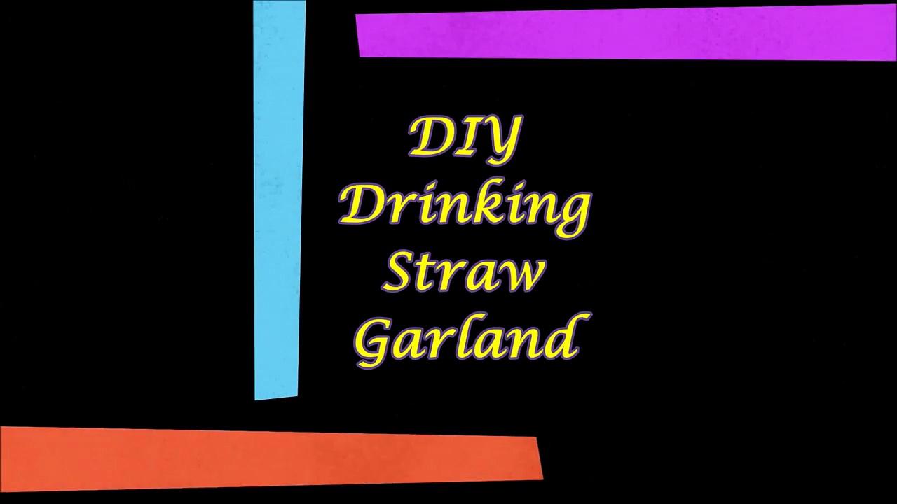 DIY Drinking Straw