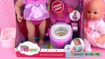 Little Mommy Princess and the Potty Time Bébé Poupon va au pot WC toilettes Une poupée enc