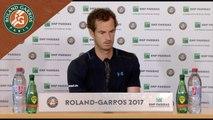 Roland Garros 2017 : 1T conférence de presse Andy Murray