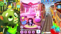 Talking Tom Gold Run vs Subway Surfers Venice and My Talking Angela Colors game
