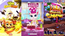 Talking Tom Gold Run vs Subway Surfers Bangkokk and My Talking Angela Colors gam