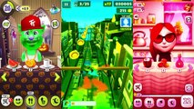 Kids cartoons My Talking Angela vs Talking Tom and Subway surf Colors Level 32 - animated series,Cartoons animated anime game 2017