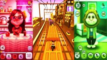 Kids cartoons My Talking Angela vs Talking Tom and Subway surf Colors Level 42 - animated series,Cartoons animated anime game 2017