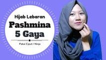 5 Gaya Hijab Pashmina Untuk Lebaran Termudah #NMY Hijab Tutorials
