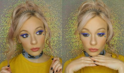 Gold + Royal Blue Makeup Tutorial | MissYarmosh