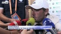 """Roland Garros – Pouille : """"Je suis content, mais j'ai envie d'aller plus loin !"""""""