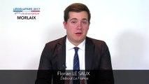 Législatives 2017. Florian Le Saux : 4e circonscription du Finistère (Morlaix)