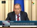 Canciller Lavrov denuncia campaña anti rusa de potencias occidentales