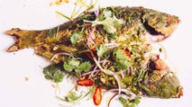 Whole Grilled Fish with Vietnamese Peanut Pesto