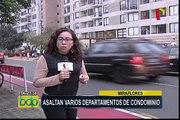Asaltan varios departamentos en exclusivo condominio de Miraflores