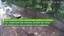 Ukraine : la spectaculaire explosion d'une conduite d'eau souterraine