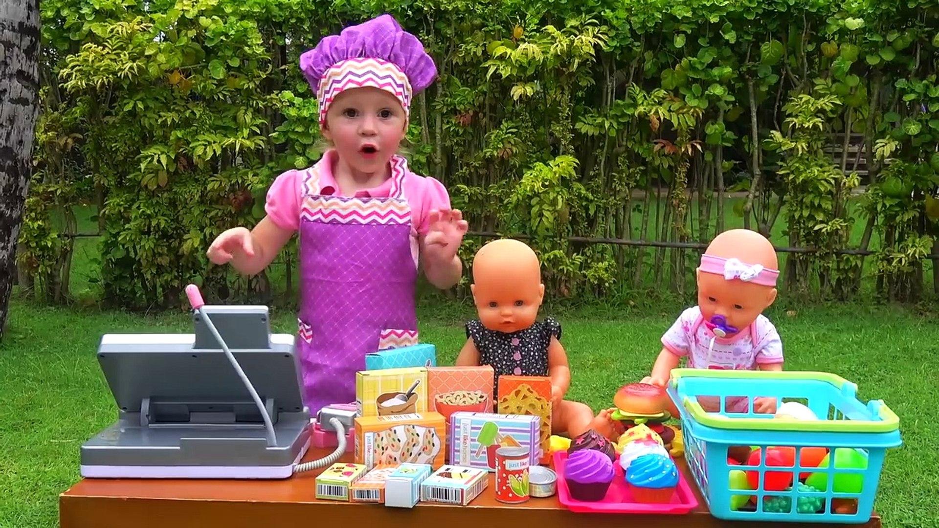 Кукла Беби Бон в супермаркете Настя КАК МАМА покупает новые игрушки и продукты для Baby Bo