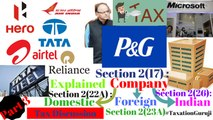Income Tax Lecture: Sec.2(17) Company?,Sec.2(22A) Domestic Co.?,Sec.2(26) Indian Co? #TaxationGuruji