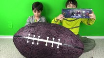 BASHING 10 Giant Surprise Chocolate Footballs - Football Challenges - Kinder Surprise Eggs