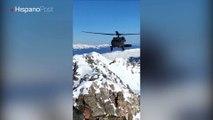 Rescatan a dos montañistas accidentados en las montañas Rocosas