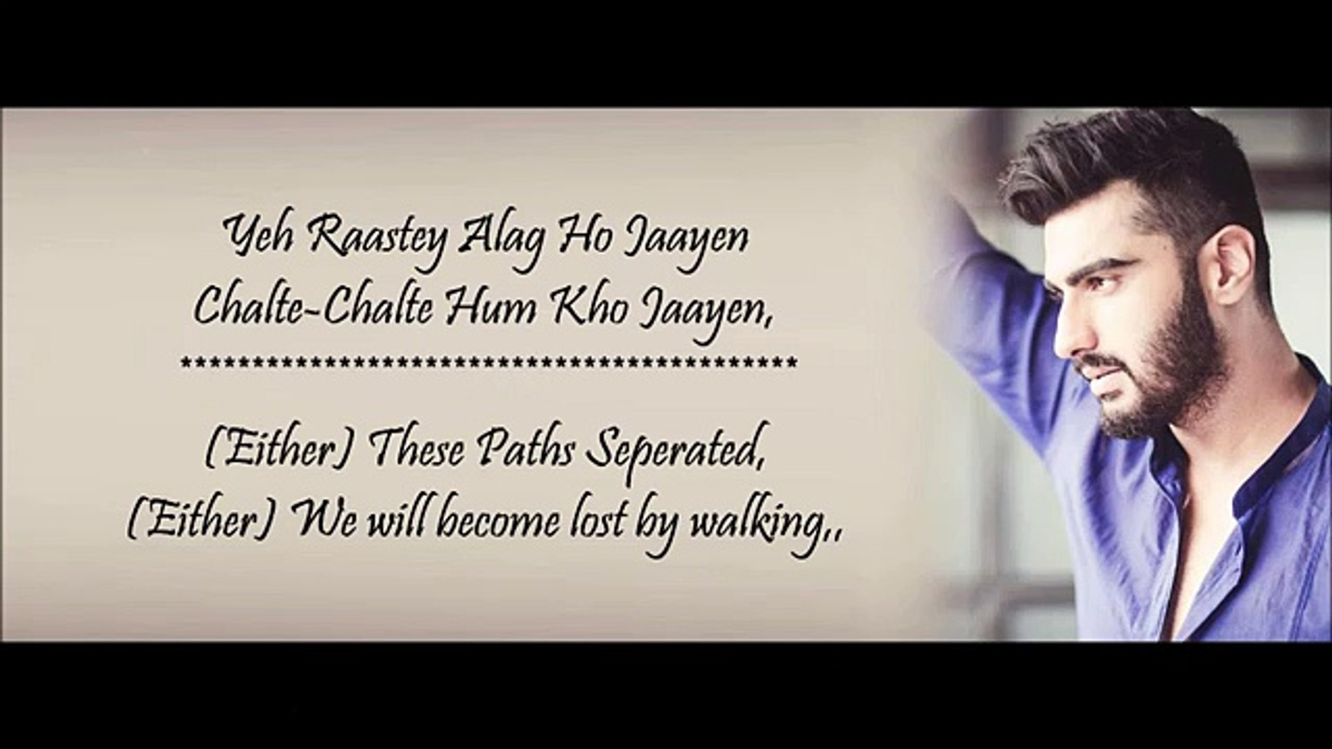 Main Phir Bhi Tumko Chahunga - Arijit Singh Shasha Trupati - Lyrical Video  With Translation