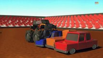 Monster truck _ Wheels on the monster trucks go round and round _ Nursery rhymes-