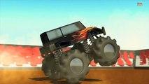 Monster truck _ Wheels on the monster trucks go round and
