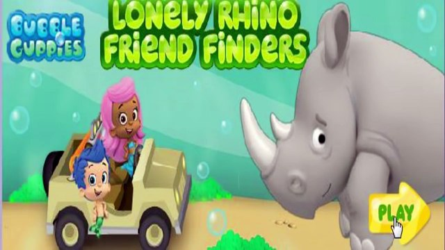 ★Bubble Guppies Lonely Rhino Friend Finders! (Nick Jr. Kids Game) Animated Cartoon 2016